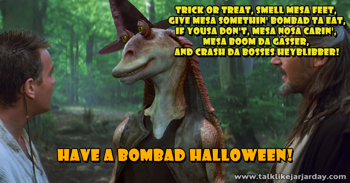 Trick or treat, smell mesa feet... if not mesa