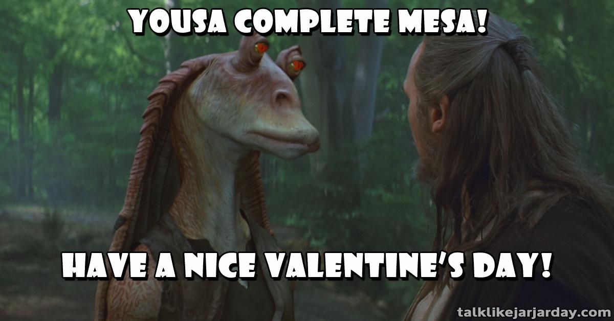 Yousa complete mesa!